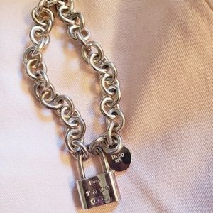 Tiffany & Co. Jewelry - TIFFANY & CO Lock bracelet .925 sterling silver